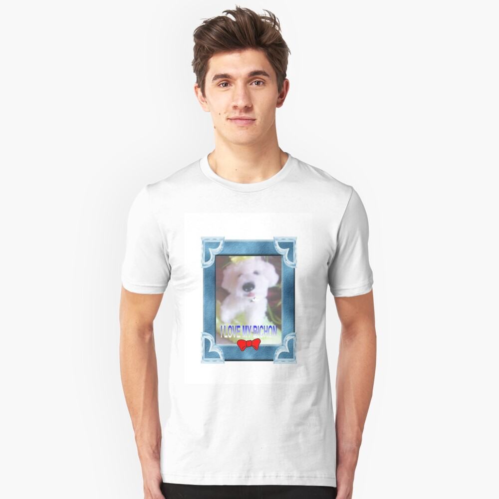 I LOVE MY BICHON BY FRANCELLE Unisex T-Shirt Front