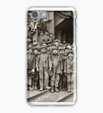 Youthful Mining Crew at Pennsylvania Coal Company's mine in South Pittston photographed by Lewis Wickes Hine,  iPhone Case/Skin