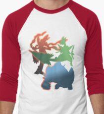 Mega Blaziken, Swampert, and Sceptile Men's Baseball ¾ T-Shirt