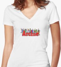 Archie Comic Book Gang Women's Fitted V-Neck T-Shirt