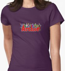 Archie Comic Book Gang Womens Fitted T-Shirt