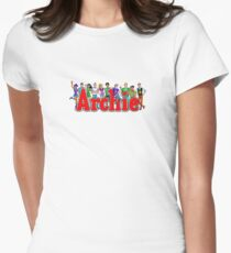 Archie Comic Book Gang Women's Fitted T-Shirt