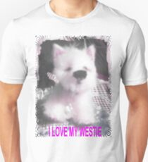 I LOVE MY WESTIE BY FRANCELLE MINIATURE PUP AS SELLS  ON EBAY T-Shirt