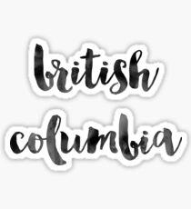 British Columbia - Black Ink Calligraphy Sticker
