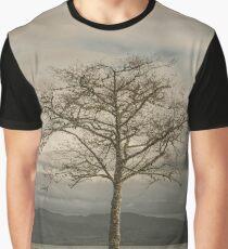 Lone Tree - landscape photography tree trees sky blue gray grass ocean adventure hiking love digital Graphic T-Shirt