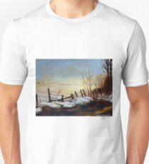 CANADIAN LANDSCAPE ART AND CANADIAN LANDSCAPE PAINTING FROZEN LAKE IN QUEBEC BY CAROLE SPANDAU T-Shirt