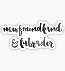 Newfoundland & Labrador - Black Ink Calligraphy Sticker