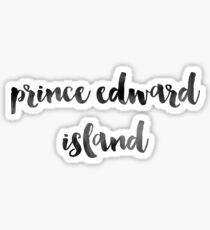 Prince Edward Island - Black Ink Calligraphy Sticker