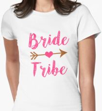Bride Tribe Bridesmaid women's tank shirt  Womens Fitted T-Shirt