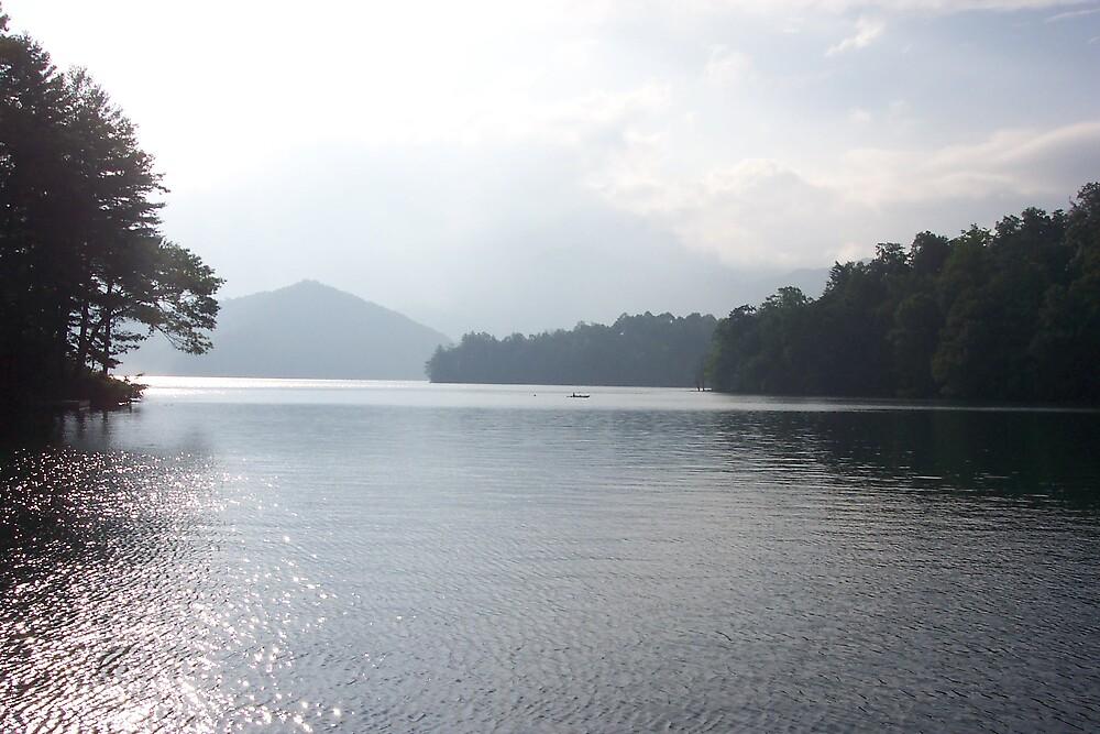 Sunrise over Lake Santeetlah by Cardet