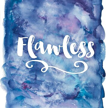 Flawless Purple Watercolor Typography by AbigailVigh