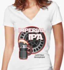 Dark Side Imperial IPA Women's Fitted V-Neck T-Shirt