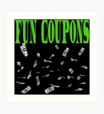 Fun Coupons - The Wolf Of Wall Street Art Print