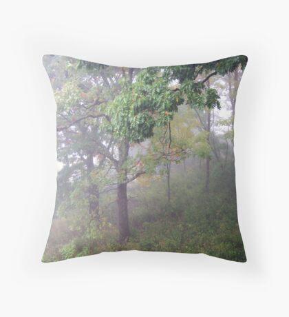 Foggy Shenandoah Mountain Top Throw Pillow