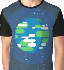 Kurzgesagt - Flat Earth Art Graphic T-Shirt