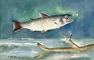 Flying Trout - Inspired by Winslow Homer by Diane Hall