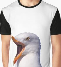 Screaming Seagull Graphic T-Shirt