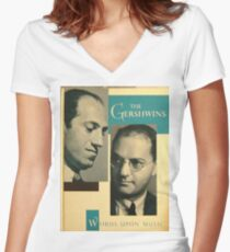 George Gershwin,  & Ira Women's Fitted V-Neck T-Shirt