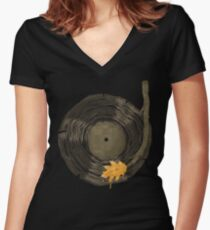 Sound of Nature Women's Fitted V-Neck T-Shirt
