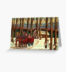VERMONT SUGAR SHACK BEAUTIFUL WINTER LANDSCAPE  Greeting Card