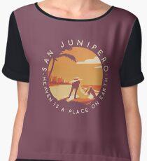 Black Mirror: San Junipero - Vintage Style Chiffon Top