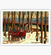 VERMONT SUGAR SHACK BEAUTIFUL WINTER LANDSCAPE  Sticker
