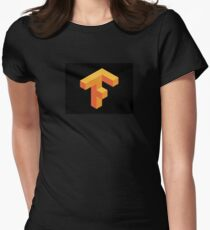 Tensorflow Clear Logo Women's Fitted T-Shirt