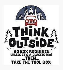 Mini Think Outside Photographic Print