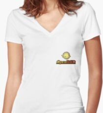 OpenBSD Logo Women's Fitted V-Neck T-Shirt