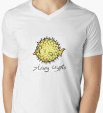OpenBSD crypto Mens V-Neck T-Shirt