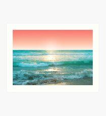 Aqua und Koralle, 1 Kunstdruck