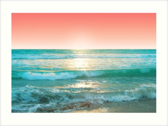 Aqua und Koralle, 1 von EndlesslyWild