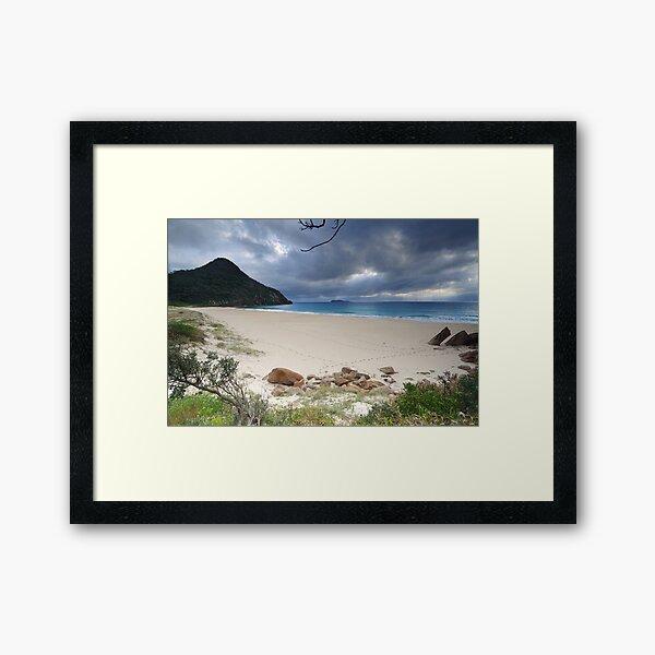 Beautiful Zenith Beach Port Stephens Framed Art Print