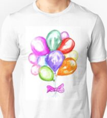 Inflatable Colorful Balloons Unisex T-Shirt