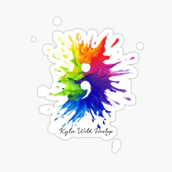 Watercolor Semi-Colon Project Rainbow Splash, Hand Painted Design Sticker