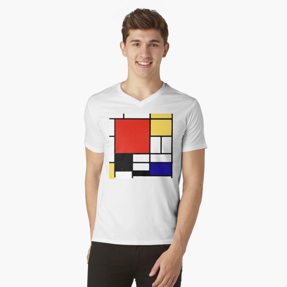 Mondrian  V-Neck T-Shirt