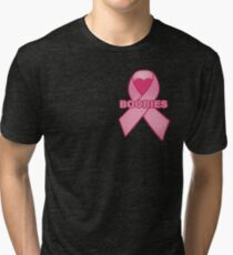 Boobies Ribbon Tri-blend T-Shirt