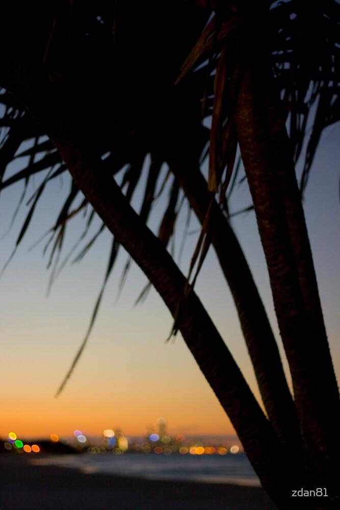 Burleigh Beach at Sunset by zdan81
