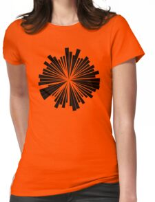 Abstract Motif Womens Fitted T-Shirt