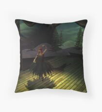 Entering the spotlight Throw Pillow