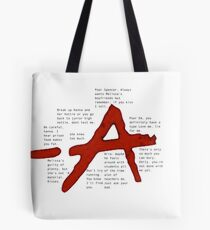pretty little liars A qoutes   Tote Bag