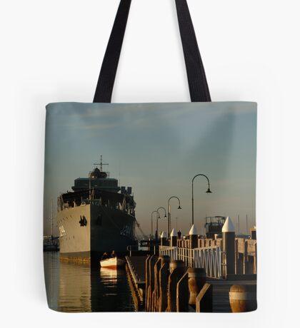 In my Shadow, Gem Pier, Williamstown Tote Bag
