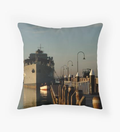In my Shadow, Gem Pier, Williamstown Throw Pillow