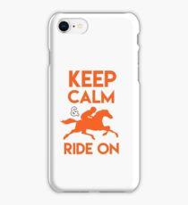 Keep Calm & Ride On iPhone Case/Skin