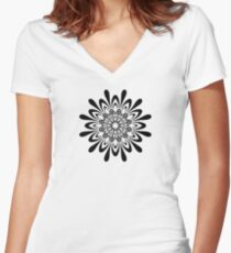 Abstract Vortex Women's Fitted V-Neck T-Shirt