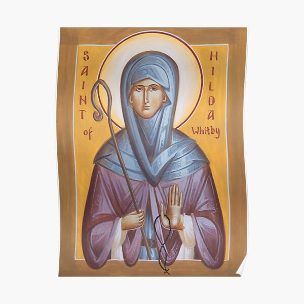 St Hilda of Whitby Poster
