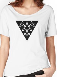 Abstract Triangle Design Women's Relaxed Fit T-Shirt