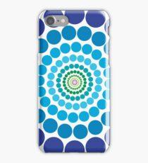 Circular Blue Pattern iPhone Case/Skin