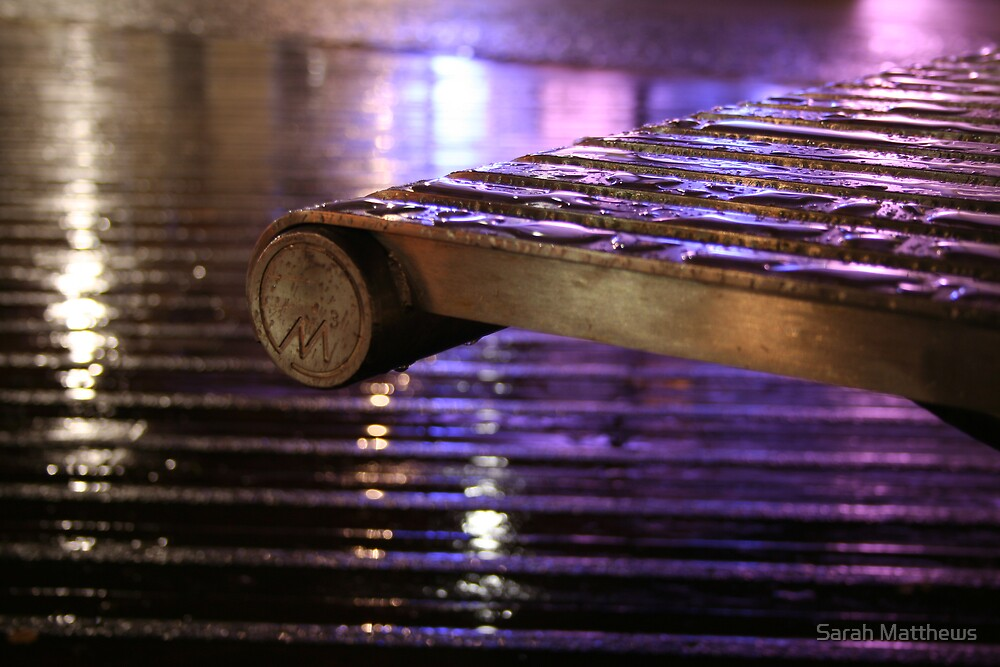 Metal Bench by Sarah Matthews