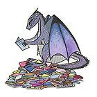 Book Dragon by AnAliensArt